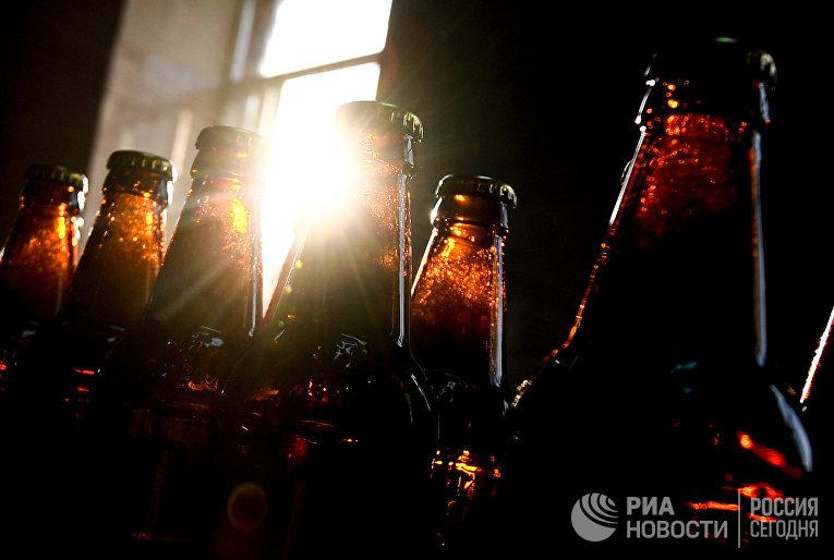 Цех розлива на Жигулевском пивоваренном заводе в Самаре