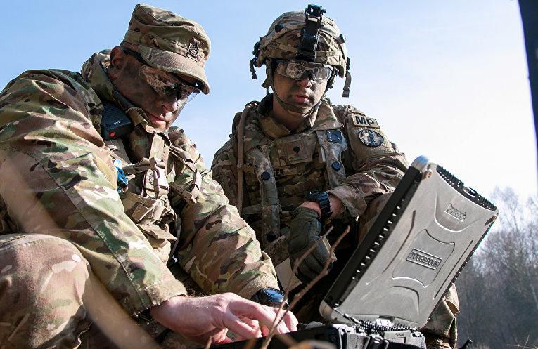 Американские солдаты на военных учениях в Германии