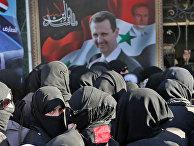 Портрет президента Сирии Башара Аль-Асада