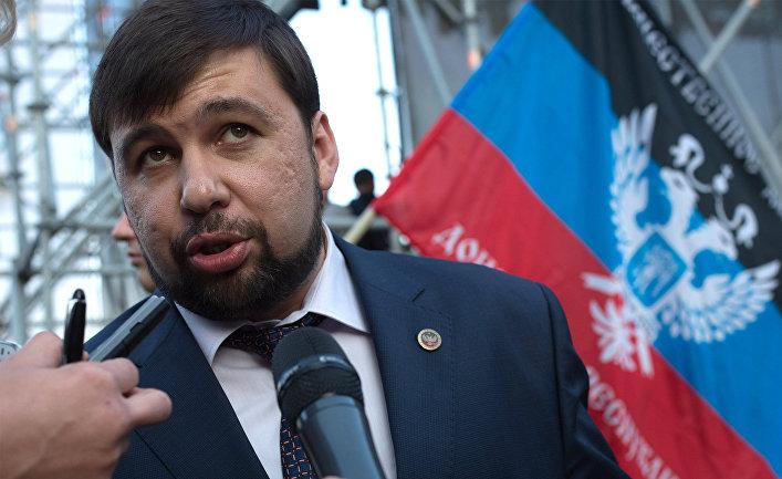 Заместитель председателя Народного Совета Донецкой народной республики Денис Пушилин