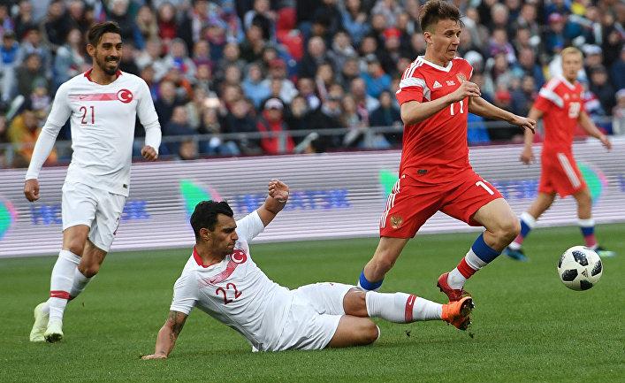 Футбол. Товарищеский матч. Россия - Турция