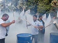 Антикоррупционный митинг у здания украинского парламента в Киеве