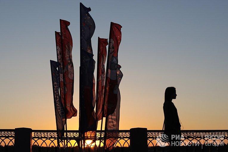 Девушка на мосту в Самаре
