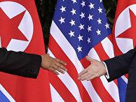 Лидеры США и Северной Кореи обменялись рукопожатием на саммите в Сингапуре