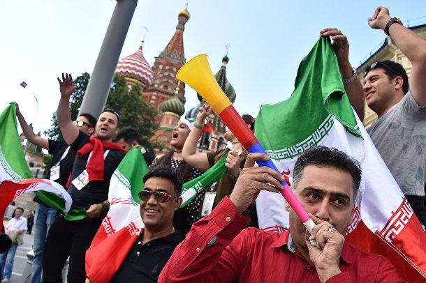 Болельщики сборной Ирана в Москве