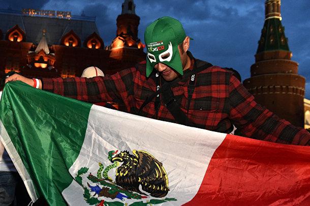 Болельщик сборной Мексики в Москве
