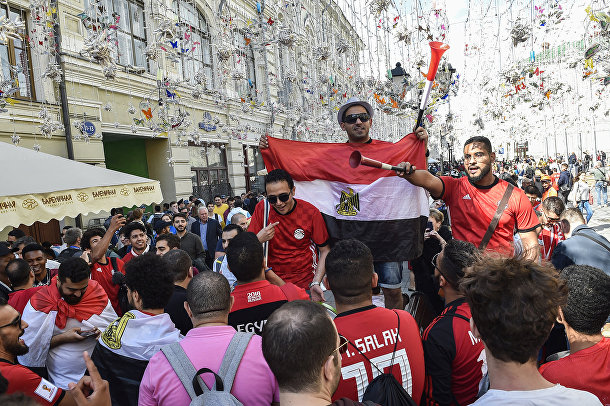Болельщики сборной Египта в Москве
