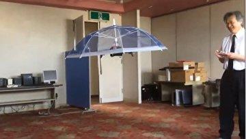 Японцы изобрели летающий зонт