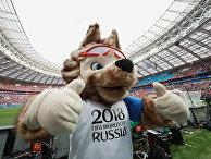 Официальный талисман чемпионата мира по футболу ФИФА-2018 волк Забивака