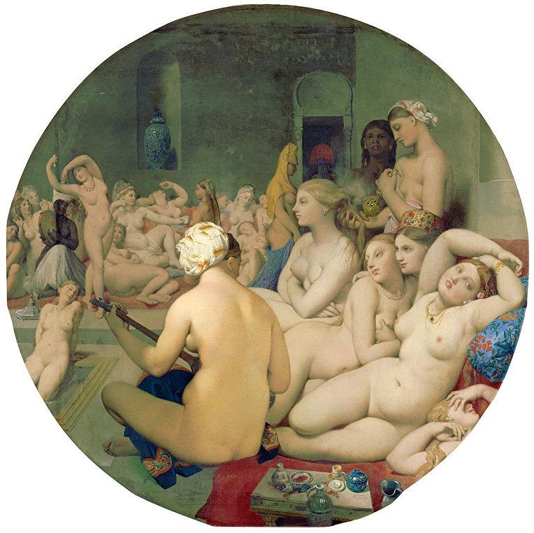 Картина французского художника Жана Огюста Доминика Энгра «Турецкие бани»