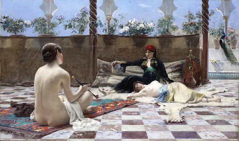 Картина немецкого художника Фердинанда Макса Берда «Турецкие девушки»