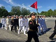 Выпуск офицеров  ВМФ РФ на Якорной площади Кронштадта