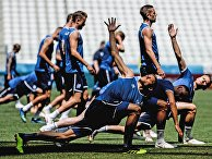 Футбол. ЧМ-2018. Тренировка сборной Исландии