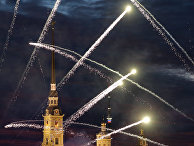 Фейерверк на празднике выпускников «Алые паруса» в Санкт-Петербурге