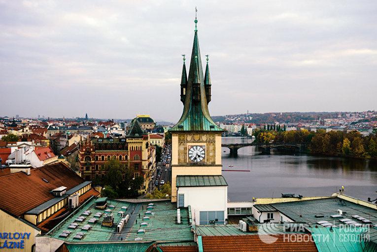 Староместская водонапорная башня в Праге.