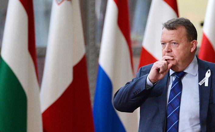 Премьер-министр Дании Ларс Лёкке Расмуссен на саммите ЕС в Брюсселе. 22 марта 2018