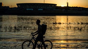 """Стадион """"Волгоград Арена"""", где проходят матчи чемпионата мира по футболу 2018"""