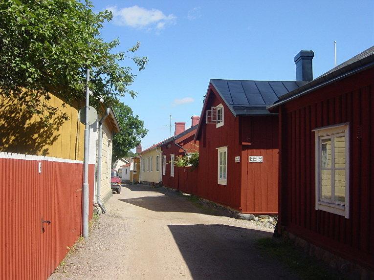 Деревянные строения в Расеборге, Финляндия
