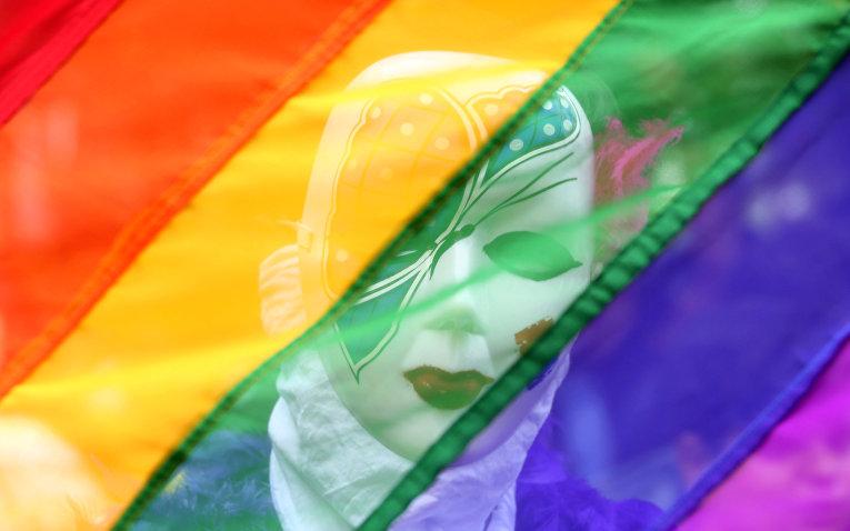 Участник гей-парада в Ченнаи, Индия