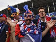 Болельщики сборной Франции перед началом матча группового этапа чемпионата Европы по футболу - 2016