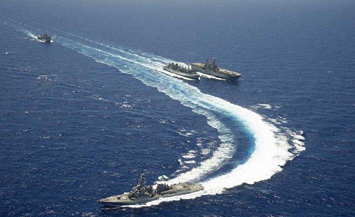 """Американские военные корабли на учениях """"Римпак-2014"""""""