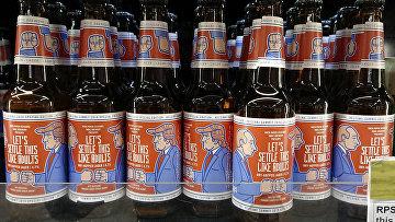 Пиво Let's Settle This Like Adults, выпущенное в Финляндии в преддверии встречи Трампа и Путина в Хельсинки