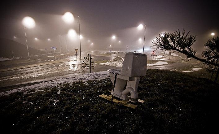 Туалет в регионе Уусимаа, Финляндия