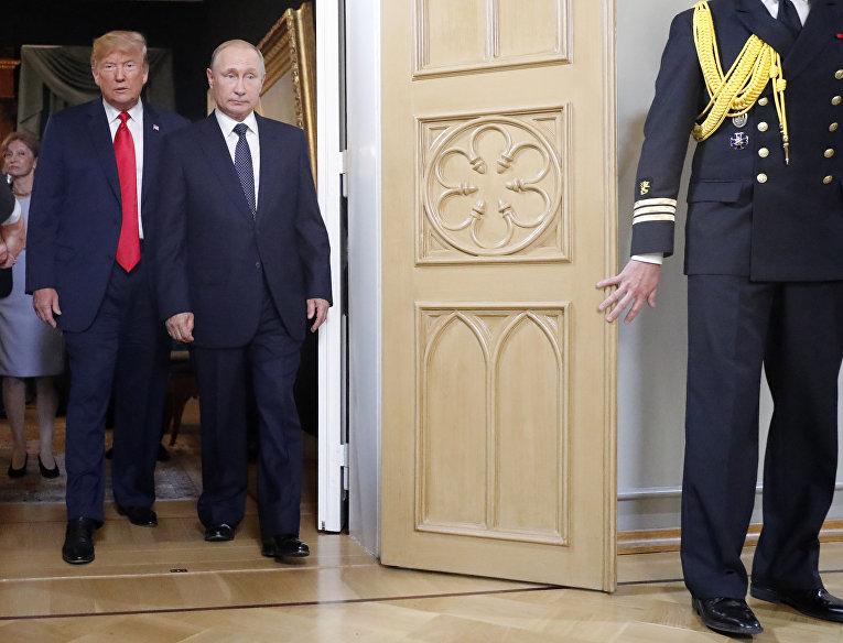Дональд Трамп и Владимир Путин перед встречей в Хельсинки