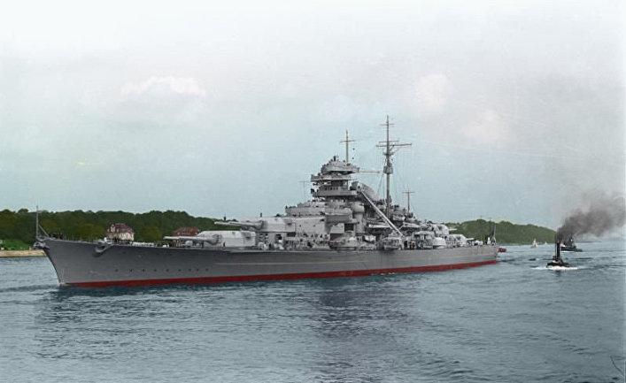 Немецкий боевой корабль «Бисмарк»
