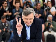Украинский режиссер Сергей Лозница на фотосессии своего фильма «Донбасс»