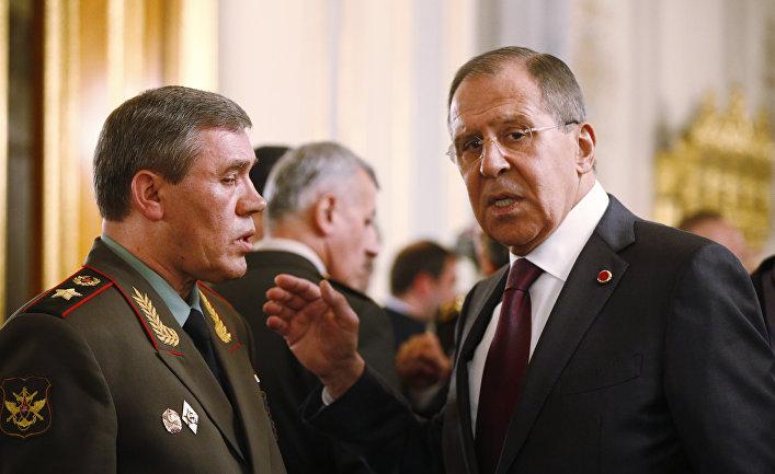 Валерий Герасимов и Сергей Лавров