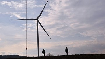 Ветряная электростанция в городе Старый Самбор Львовской области