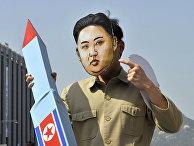 Участник антивоенного митинга в Сеуле, Южная Корея