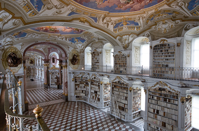 Библиотека Аббатства Адмонт в Австрии