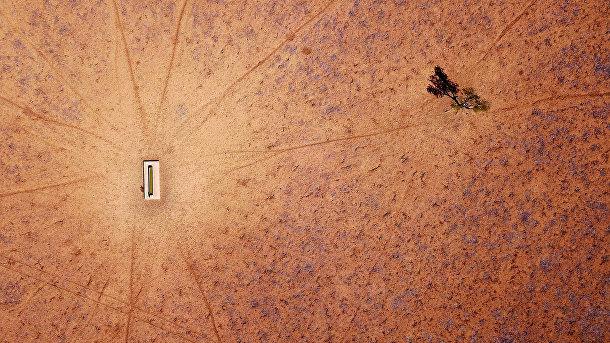 Земля, пострадавшая от засухи в Новом Южном Уэльсе в Австралии