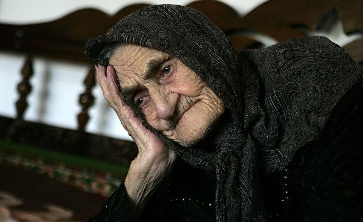 Чеченская долгожительница Кеси Каруева