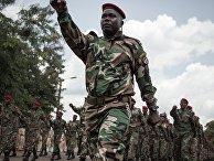 Новобранцы центральноафриканских вооруженных сил маршируют в Беренго