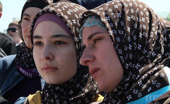 Жители Чеченской Республики