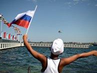 Во время празднования Дня Военно-морского флота России в Севастополе