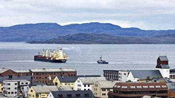 Город Киркинес на севере Норвегии