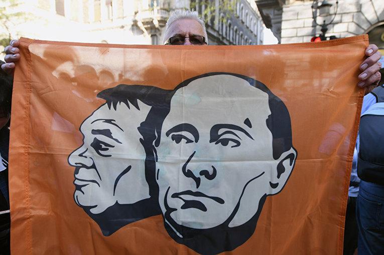 Акция против политики правительства венгерского премьер-министра Виктора Орбана в Будапеште