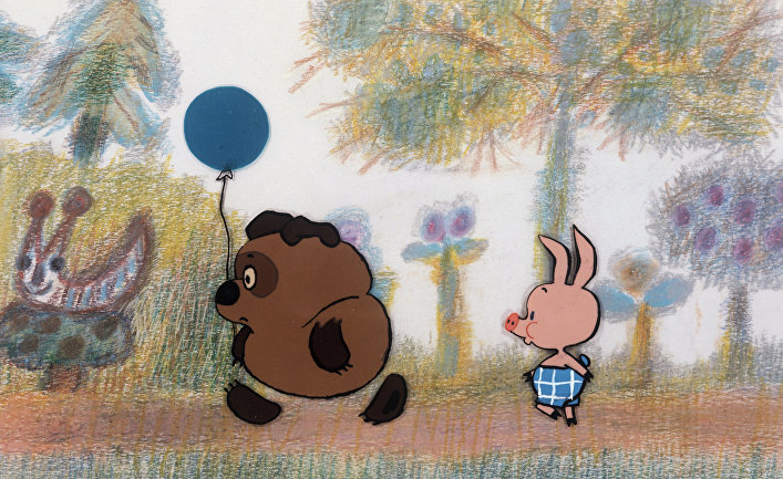 """Кадр из мультфильма """"Винни-Пух"""", 1969 год. Режиссер - Федор Савельевич Хитрук."""