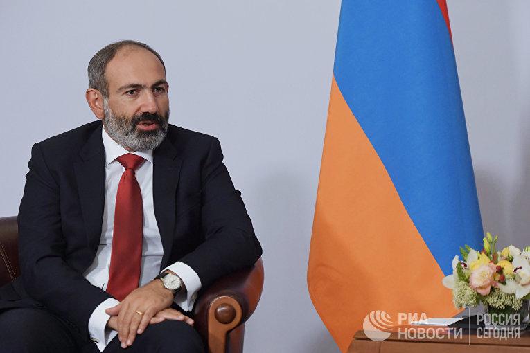 Премьер-министр Армении Никол Пашинян на встрече с президентом РФ Владимиром Путиным. 14 мая 2018
