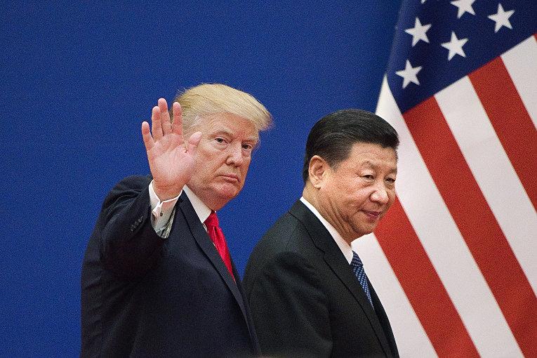 Президент США Дональд Трамп и председатель КНР Си Цзиньпин во время встречи в Пекине