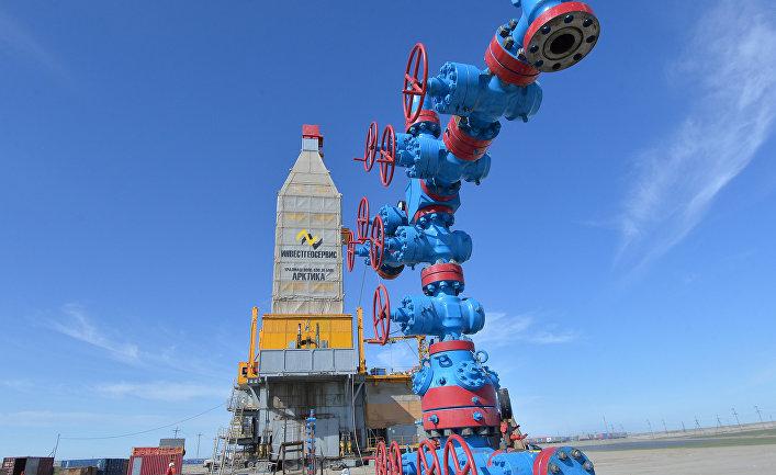 """Специализированная буровая установка """"Арктика"""", на заводее по сжижению природного газа на Ямале"""