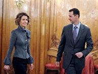 Президент Сирии Башар Асад и его жена Асма