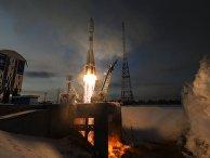 """Старт ракеты-носителя """"Союз-2.1б"""" с космическим аппаратом """"Метеор"""" №2-1 с космодрома """"Восточный"""". 28 ноября 2017"""