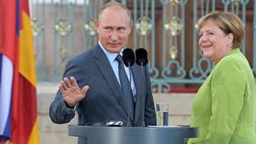 Рабочий визит президента РФ В. Путина в Германию