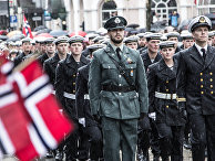 Празднование Дня конституции Норвегии в Бергене