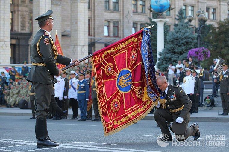 Генеральная репетиция военного парада в честь Дня независимости Украины